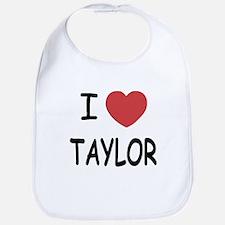 I heart taylor Bib