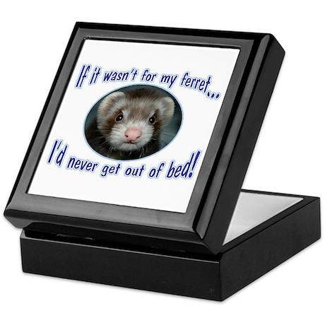 Never Get Out of Bed Ferret Keepsake Box