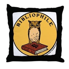 Bibliophile Seal w/ Text Throw Pillow