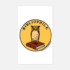 Bibliophile Seal w/ Text Decal