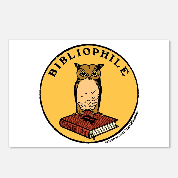 Bibliophile Seal w/ Text Postcards (Package of 8)