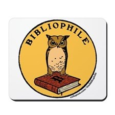 Bibliophile Seal w/ Text Mousepad
