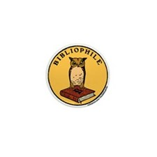 Bibliophile Seal w/ Text Mini Button (10 pack)