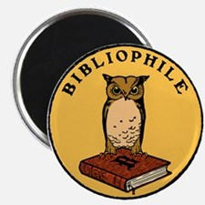 Bibliophile Seal w/ Text Magnet