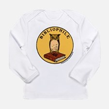 Bibliophile Seal w/ Text Long Sleeve Infant T-Shir