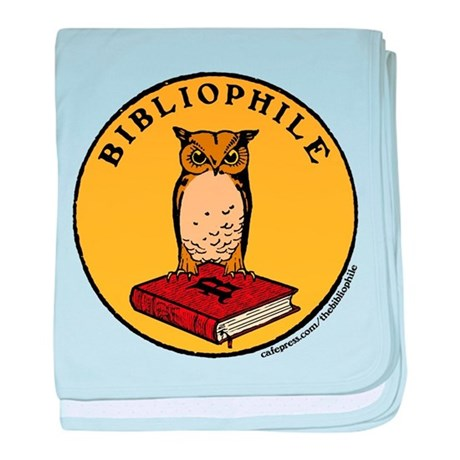 Bibliophile Seal w/ Text Infant Blanket
