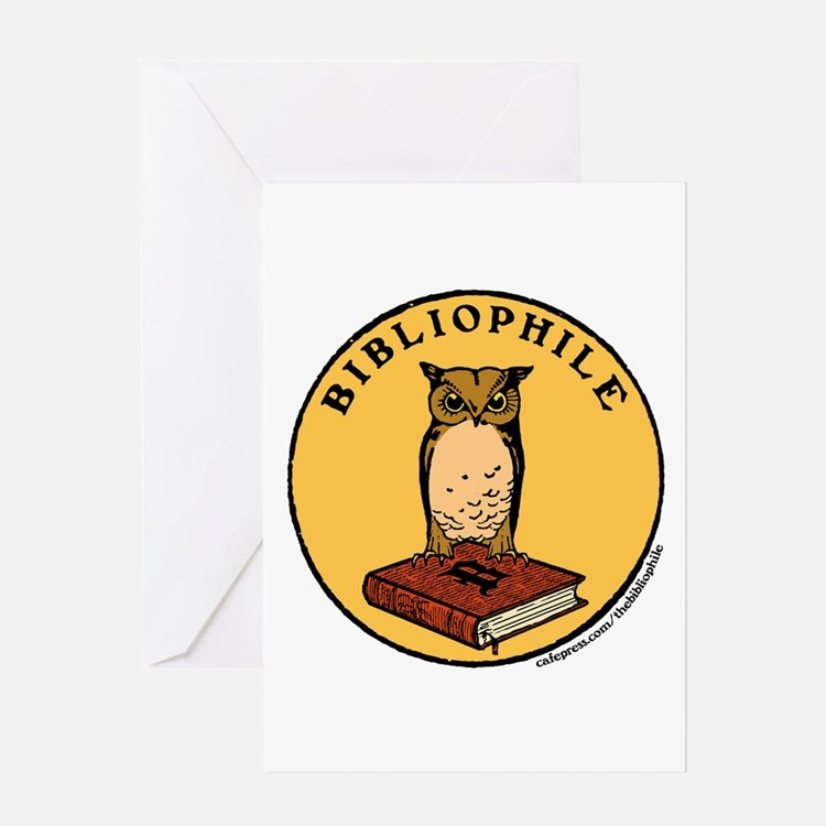 Bibliophile Seal w/ Text Greeting Card