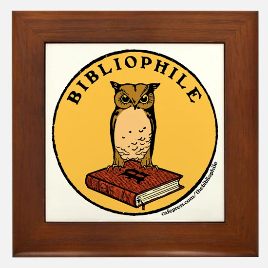 Bibliophile Seal w/ Text Framed Tile