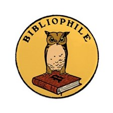 """Bibliophile Seal w/ Text 3.5"""" Button (100 pack)"""