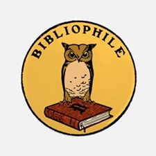 "Bibliophile Seal w/ Text 3.5"" Button"