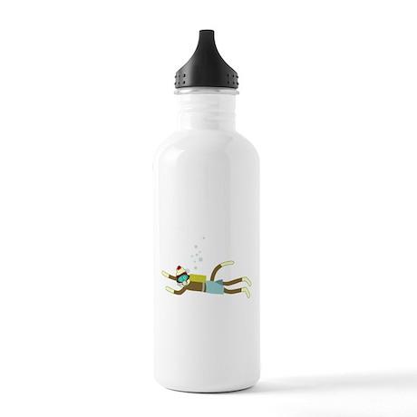 Sock Monkey Scuba Diver Stainless Water Bottle 1.0
