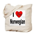 I Love Norwegian Tote Bag