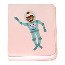 Sock Monkey Astronaut Infant Blanket