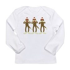 No Evil Sock Monkeys Long Sleeve Infant T-Shirt