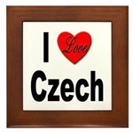 I Love Czech Framed Tile