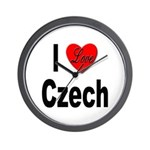 I Love Czech Wall Clock