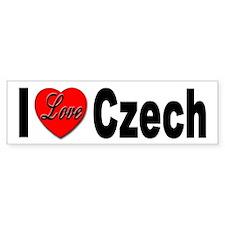 I Love Czech Bumper Bumper Sticker