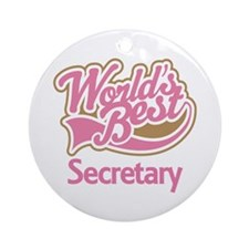 Secretary Ornament (Round)