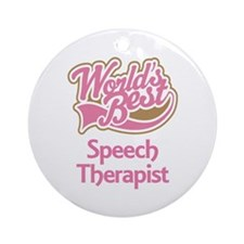 Speech Therapist Ornament (Round)