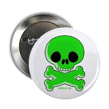 green skull Button