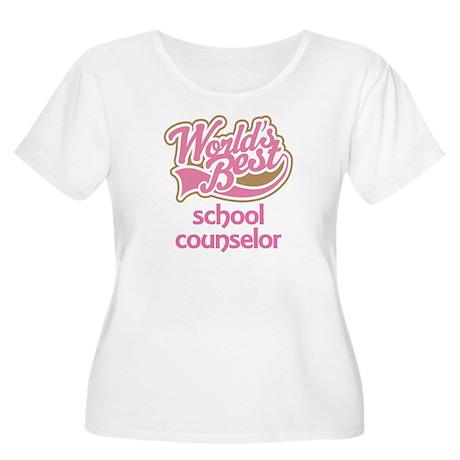School Counselor Women's Plus Size Scoop Neck T-Sh
