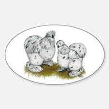 Silkies Splash Chickens Decal