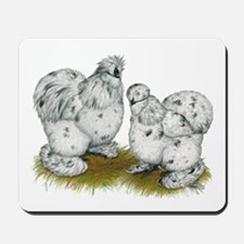 Silkies Splash Chickens Mousepad