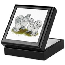 Silkies Splash Chickens Keepsake Box