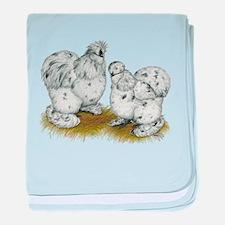 Silkies Splash Chickens Infant Blanket