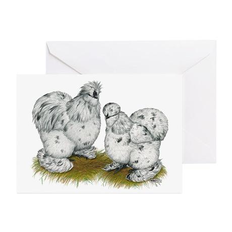 Silkies Splash Chickens Greeting Cards (Pk of 10)