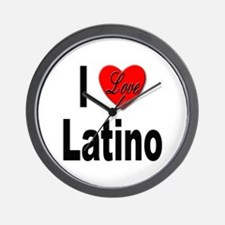 I Love Latino Wall Clock