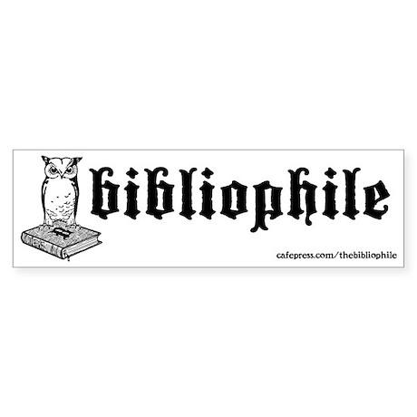 Bibliophile 2-Tone Logo Sticker (Bumper)