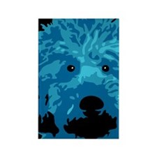 Labradoodle - color 3 Rectangle Magnet (100 pack)