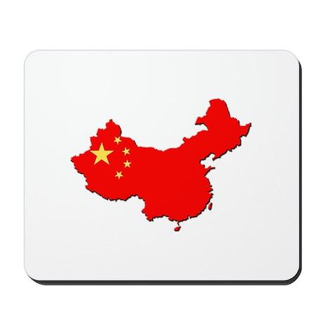 China Flag Map Mousepad