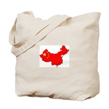 China Flag Map Tote Bag
