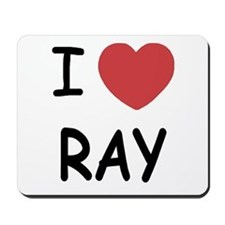 I heart ray Mousepad
