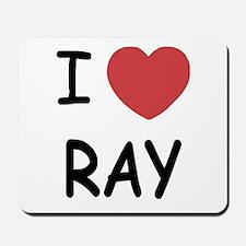 I heart ray Mousepad