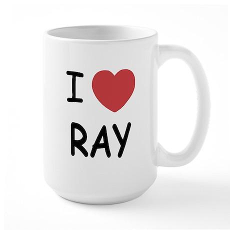 I heart ray Large Mug