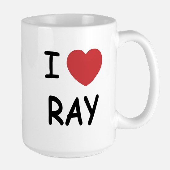 I heart ray Large Mug