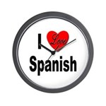 I Love Spanish Wall Clock