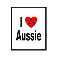 I Love Aussie Framed Panel Print