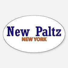 New Paltz Title Blue & Orange Decal