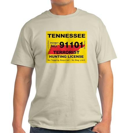 Tennessee Terrorist Hunting L Light T-Shirt
