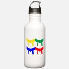 Martial Arts Colored Belts Water Bottle
