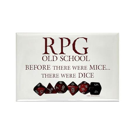 RPG Old School Rectangle Magnet