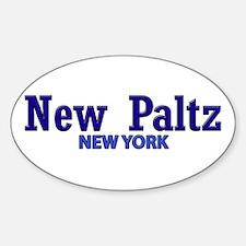 New Paltz Blue Title Decal