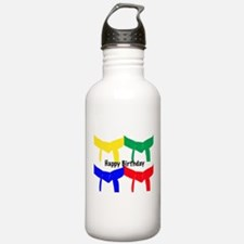 Martial Arts Happy Birthday Water Bottle
