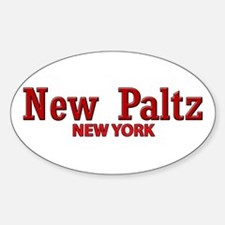 New Paltz Red Title Decal