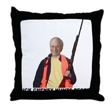 DICK CHENEY HUNTS PEOPLE Throw Pillow