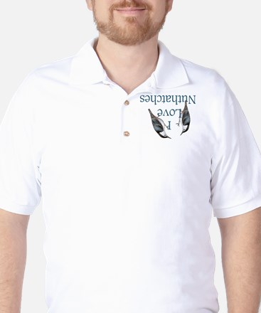 I Love Nuthatches Golf Shirt